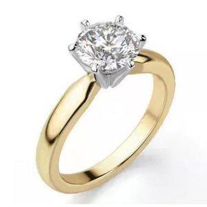 1.01 ct. 6 prong set Comfort Fit Round diamond rin